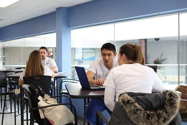 Group of Madonna Accelerated BSN students studying together